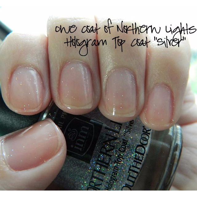 INM Northern Lights Hologram Top Coat Gold/Silver, Health & Beauty ...