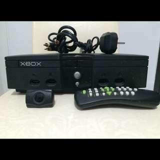 Xbox Console With DVD Remote.