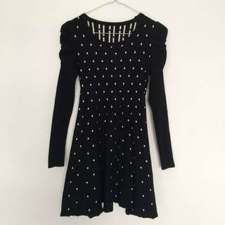 Polka Dot Knit Dress