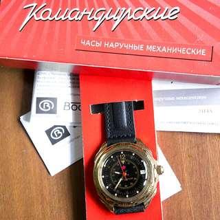 BRAND NEW VOSTOK Boctok Kormandirskie Manual Winding Russian Watch