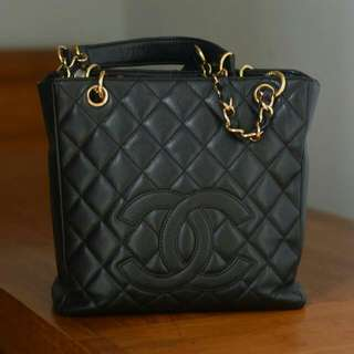 Chanel PST Black With Gold Chain.
