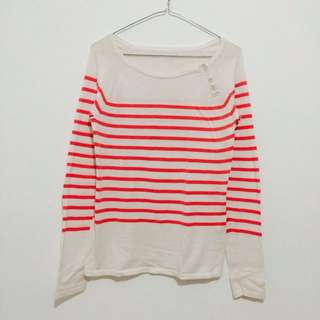 Coral Strip Top