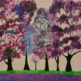 Canvas Tree Painting,  8 X 10 Inch