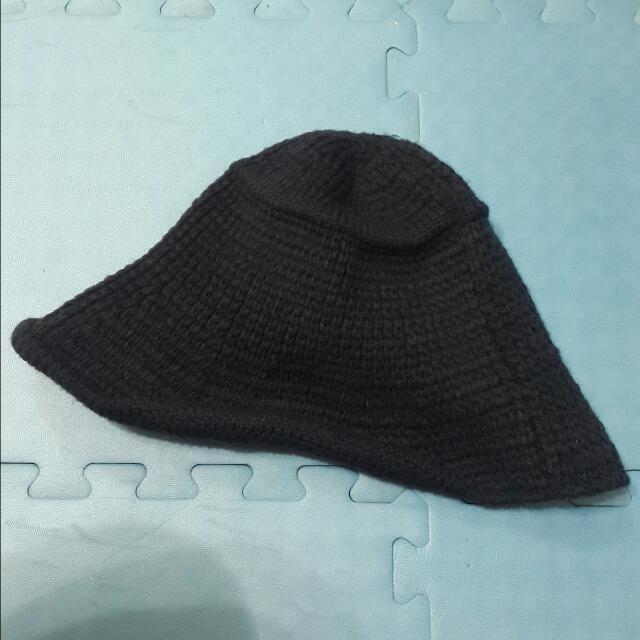 深藍色針織漁夫帽