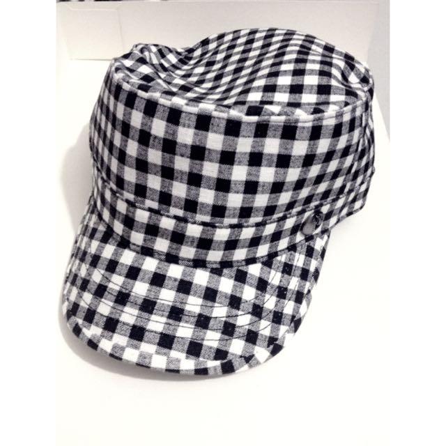 全新 黑白格子帽
