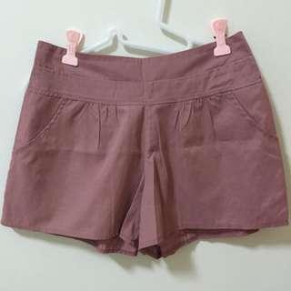 粉色水洗短褲