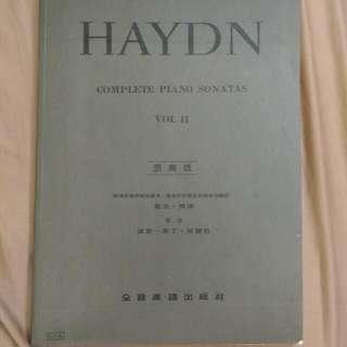 海頓原典版鋼琴譜((鋼琴譜全新))