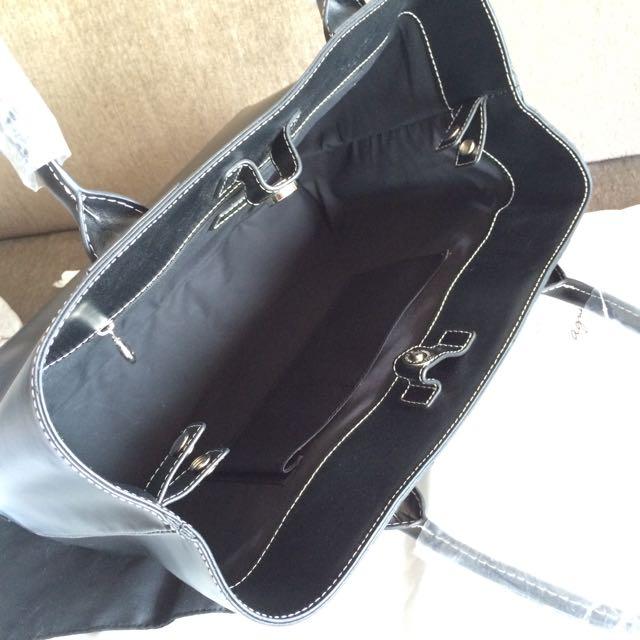 Agnes B Executive Tote Bag Black Medium Size