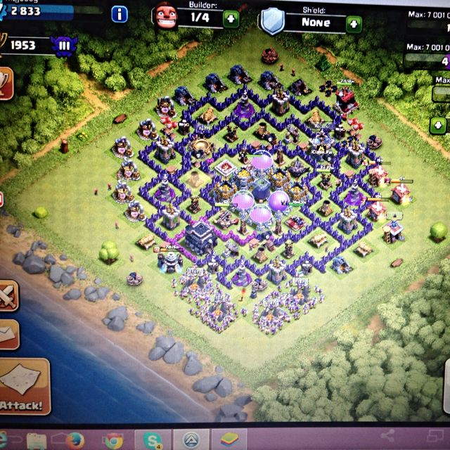 Clash Of Clan Auto Farming.
