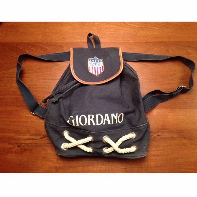 Girodano老品藍抽繩後背包