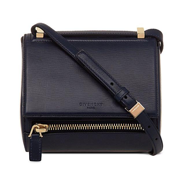 0c32702b4be GIVENCHY Pandora Box Mini Cross-body Sling Bag (Midnight Blue ...