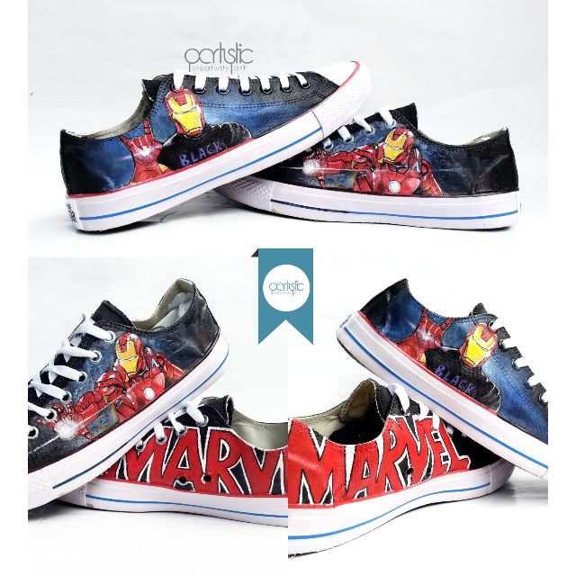 iron man custom painted shoes by partystic (sepatu lukis) d6c39033b5
