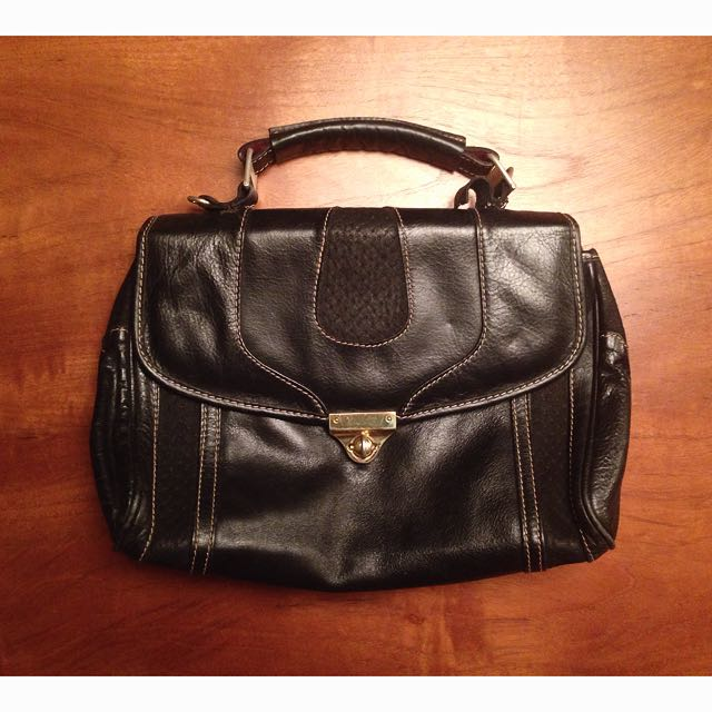 Vintage黑手提包