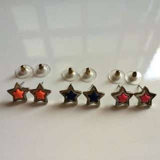 Star And Heart Ear Studs