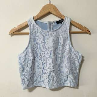 (BN) MDS Lace Cropped Top