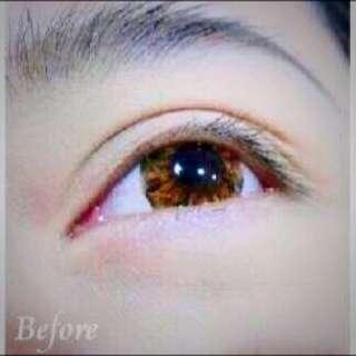 韓系裸妝隱形眼線