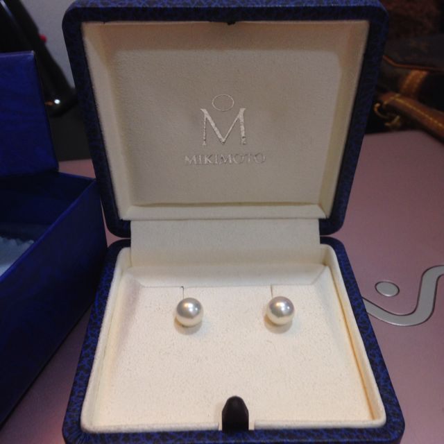 Fire Authentic Mikimoto 7mm Pearl Earrings Luxury On