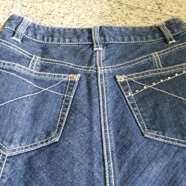 890c414e52 Hush Hush Midi Denim Skirt, Women's Fashion, Clothes on Carousell