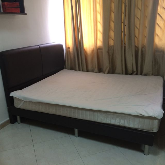 RESERVED Queen Size Bed Frame With Mattress $100