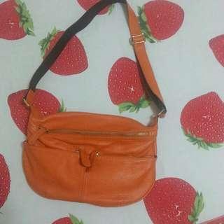 韓貨橘色側背包