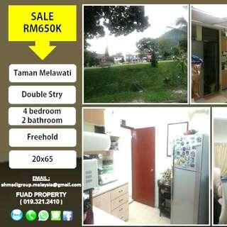 TAMAN MELAWATI DOUBLE STOREY LANDED HOUSE !!