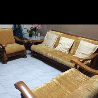 solid Wood Sofa Set (Repost)
