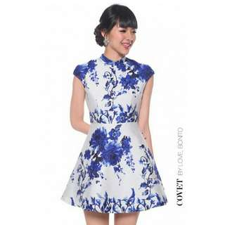 LoveBonito Floral Flare Dress In Size M
