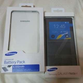BNIB Sealed Original Note 4 View Cover & Samsung Batt Pack