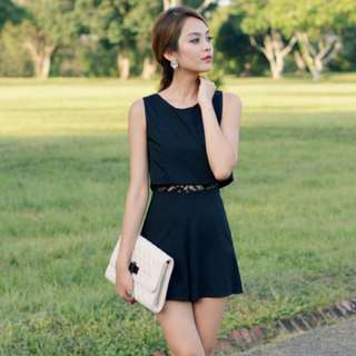 Emily Playsuit in Black