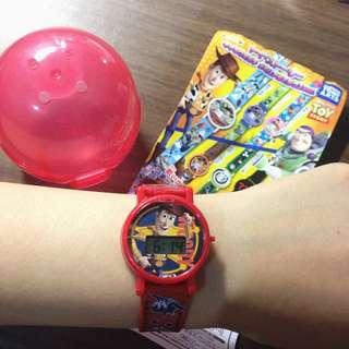Woody 玩具總動員 扭蛋 胡迪手錶