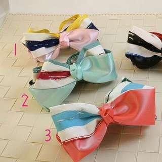 100%韓國帶回彩色混搭蝴蝶結相交夾 四色  請依編號在筆記本留貨 2260290502