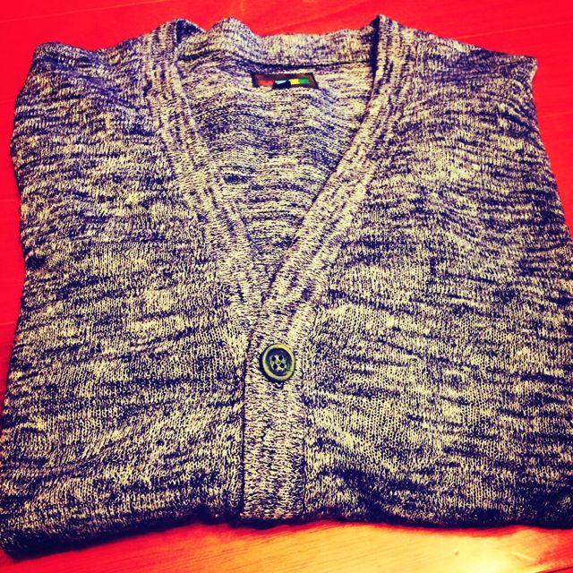 針織外搭毛衣-刷藍色 全新 M號