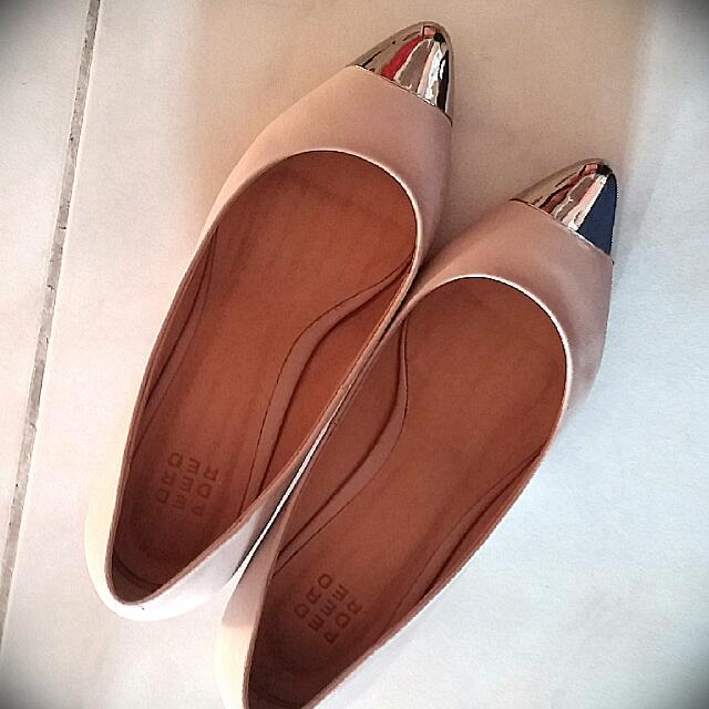 a9a382ef7ed1 Pedder Red Pale Pink Mauve Kitten Heels Shoes Size 36