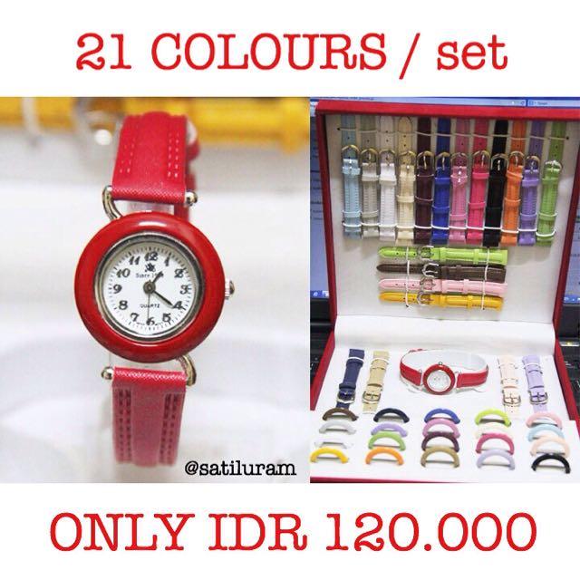 Satu Set Jam Tangan (21 Warna)