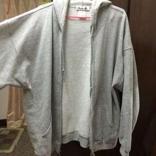 全新 灰色內刷毛 外套 XL