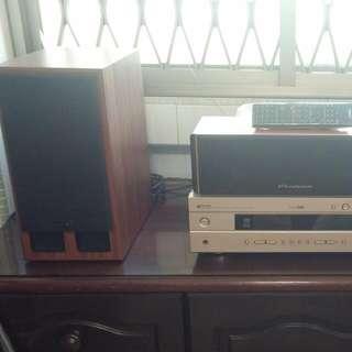 Yamaha AV Amp, Wharfedale Center Spk And Loth-X Ion 1 Main Spk Pair