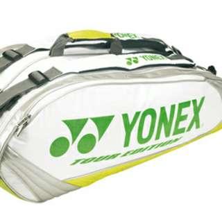 Yonex Pro 9 Badminton / Tennis Racquet Bag (Tour Edition) (Green/White)