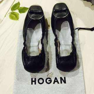 全新 義大利名牌 HOGAN 黑色時尚芭蕾鞋