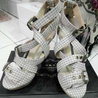 專櫃法式鄉村羅馬涼鞋