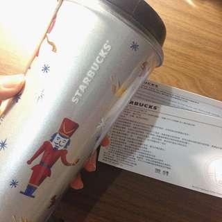 STARBUCKS 星巴克 聖誕節系列 塑料保溫杯