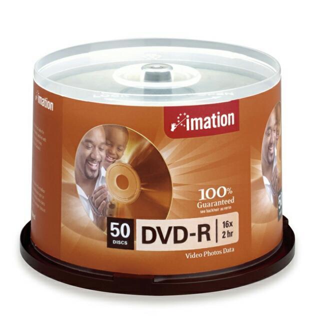 IMATION 國際版 DVD-R 光碟片 (50片裝)