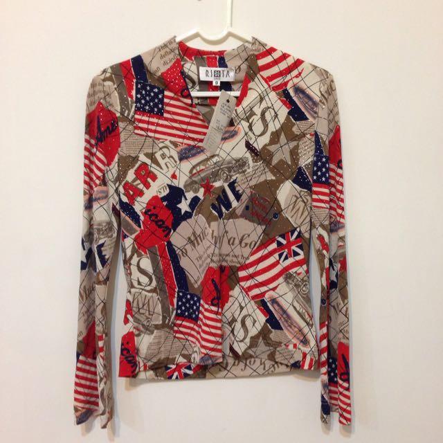 全新 ORIS 美國國旗 長袖上衣