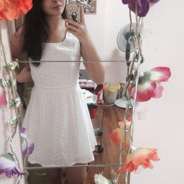 TTR White Eyelet Babydoll Dress