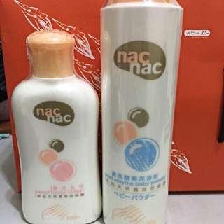 Nac Nac真珠乳液&真珠酵素爽身粉