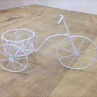 Mini Wire Tricycle Flower Pot