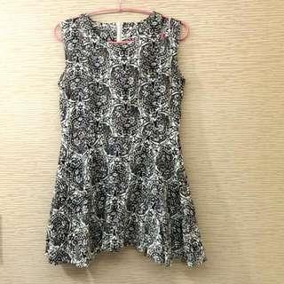 韓版 設計印花洋裝