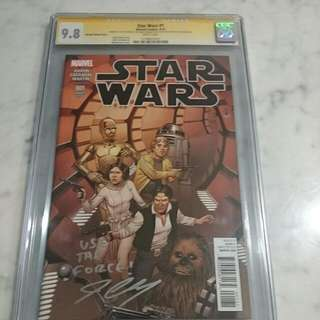 CGC SS (Cassaday) 9.8 Star Wars #1 Variant Comic
