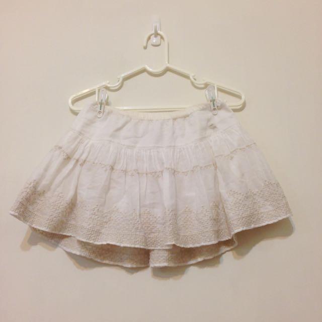 【近全新】A&F 短裙 白 abercrombie