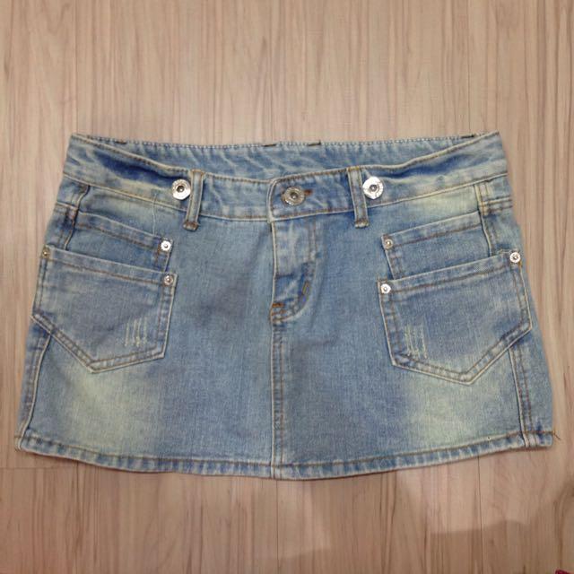 (XL)牛仔短裙