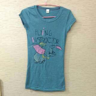 小飛象 長版圓領長版Tshirt